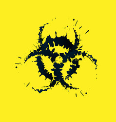 grunge biohazard sign vector image