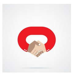 Handshake abstract design symbol vector