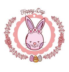 Happy day emblem vector