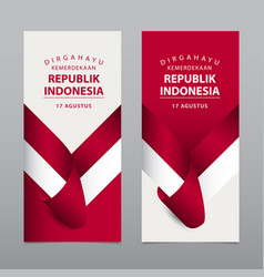 Happy indonesia independence day template vector