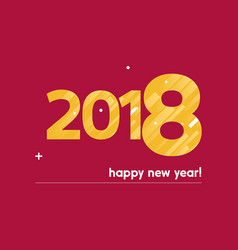 happy new year 2018 - bold text vector image