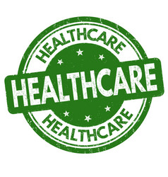 Healthcare sign or stamp vector