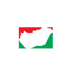 Hungary map logo icon symbol element vector