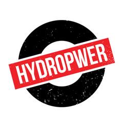 Hydropwer rubber stamp vector