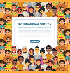 international community with different vector image