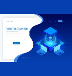 isometric quantum computing or supercomputing a vector image