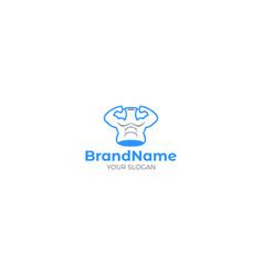 lab bodybuilding logo design vector image