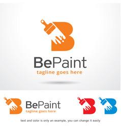 Letter b paint symbol template design vector