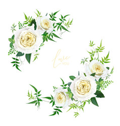 light yellow and greenery floral editable bouquet vector image