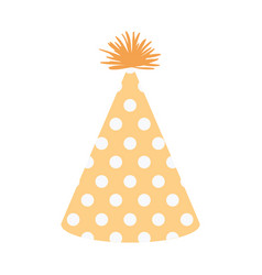 Light yellow color silhouette party hat with vector