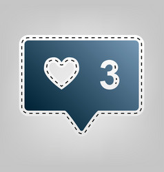 like and comment sign blue icon vector image