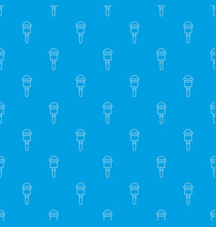 microphone pattern seamless blue vector image