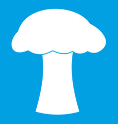 Mushroom icon white vector