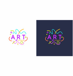 original linear image art studio isolated vector image