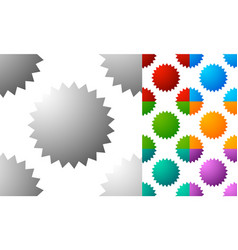 pattern background set with badge starburst-like vector image
