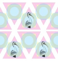 Pelican bird sign logo vector image