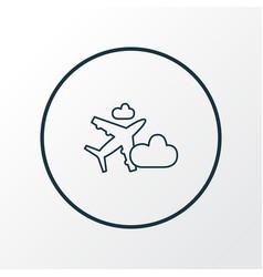 plane in the cloud icon line symbol premium vector image