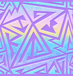 Retro futuristic geometric pattern vector