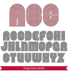 Rounded poster elegant stripy typeset best for vector image
