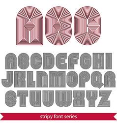 Rounded poster elegant stripy typeset best vector