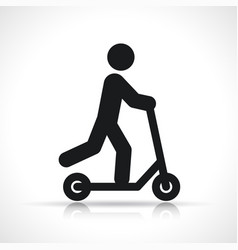 scooter icon symbol design vector image