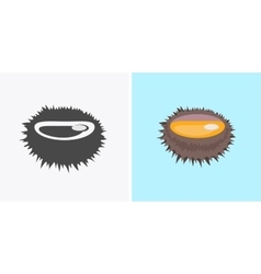 Sea Urchin Flat Design vector