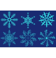 Set of fantastic snowflakes vector
