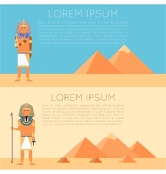 set pharaon banners vector image