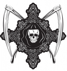 skull in cross vector image