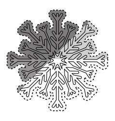 snowflake winter snow vector image