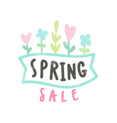 Spring sale card vector