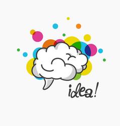 Stylized brain logo visualisation work of brain vector