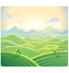 Summer hill background 02 vector