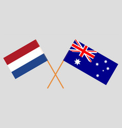the australian and netherlandish flags vector image