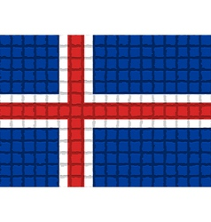The mosaic flag of Iceland vector