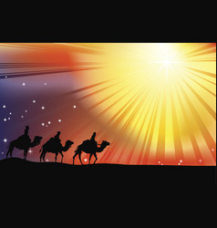 The three wise men vector