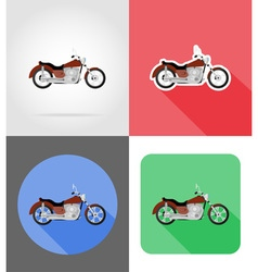 Transport flat icons 55 vector