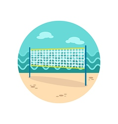 Volleyball net beach sport icon Summer Vacation vector image