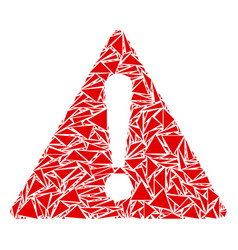 Warning collage of triangles vector