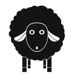 wow sheep icon simple style vector image