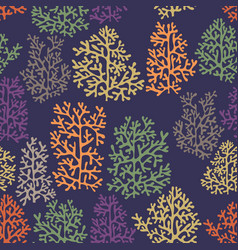 background with stylized corals vector image vector image