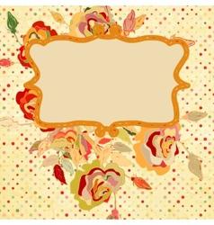 Floral design elements with polka dot EPS 8 vector image