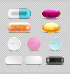 medicine painkiller pills pharmaceutical vector image