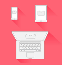 minimal design email marketing vector image vector image