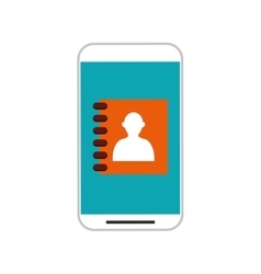 Mobile phone with person avatar vector image