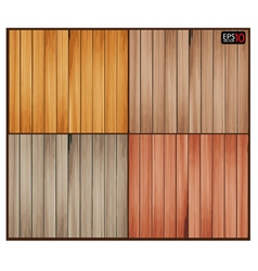 Set of wood background with wooden texture vector image vector image