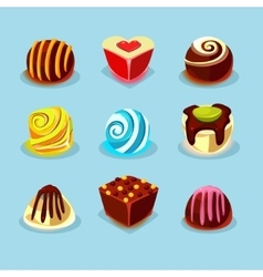 Sweets and Candies Icons vector image vector image