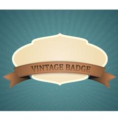 vintage badge vector image