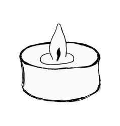 aromatic candle vector image