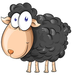 black sheep cartoon isolate on white background vector image